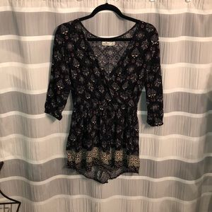 Long Sleeve Romper from Hollister